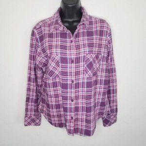 Rider's By Lee Flannel Plaid Shirt